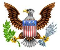 USA Eagle Shield Design Stock Photo