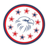 Usa eagle with stars Stock Image
