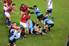 USA Eagles vs Uruguay National Rugby Game Royalty Free Stock Photos