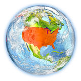 USA on Earth isolated Stock Photo