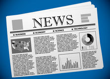 USA economy and finance newspaper illustration Stock Image