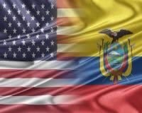 USA and Ecuador. Royalty Free Stock Image