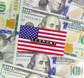 USA-ekonomi Fotografering för Bildbyråer