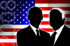 USA Election 2008. USA election the two candidates Royalty Free Stock Photo