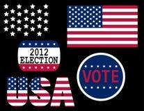 USA election. Set of agitation elements for USA election Stock Photos