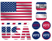 USA election. Set of signs for USA election Royalty Free Stock Photography