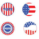 USA election buttons Royalty Free Stock Photo