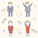USA election candidates characters illustration Stock Image