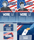 Usa 2016 election a4 flyer mockup with country map Stock Photos