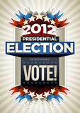USA Election Poster. 2012 Presidential Election Poster Design. Elements are layered separately in vector file stock illustration