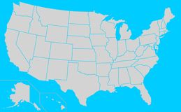 USA Election states map Stock Images