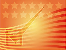 USA election voting illustration Royalty Free Stock Photo