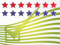 USA election voting illustration Stock Photos