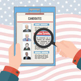 USA elections candidates. March 09, 2016 USA  elections conceptual illustration with stylized politics portraits Stock Images