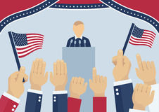 USA elections concept. USA elections party, election day campaign, politics and elections concept stock illustration