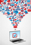 USA elections electronic voting Royalty Free Stock Images