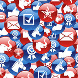 USA elections glossy icons pattern Stock Photos