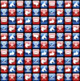 USA elections glossy internet icons pattern Royalty Free Stock Image