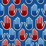 USA elections hand pattern Royalty Free Stock Images
