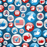 USA elections icons glossy buttons pattern Royalty Free Stock Photography