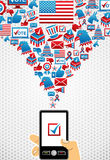USA elections online voting Stock Images