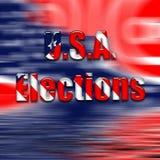 USA Elections text on USA flag. A USA flag illustration with text USA Elections vector illustration