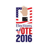 USA Elections Vote 2016 Concept. USA Elections Vote 2016 Concept Vector Illustration Stock Photo