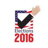 USA Elections Vote 2016 Concept. USA Elections Vote 2016 Concept Vector Illustration Royalty Free Stock Photography