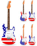 Usa electric guitars Stock Photography