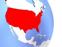 USA on elegant modern 3D globe Stock Image