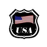 USA-emblem vektor illustrationer