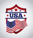 Usa emblem design Stock Photo