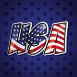 Usa emblem design Royalty Free Stock Photos