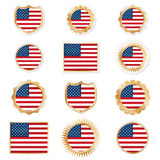 Usa emblems Stock Photography