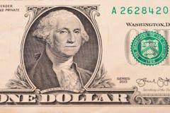 USA en dollar, detaljsikt Royaltyfria Bilder