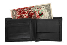 USA en dollarräkning i en plånbok, slut upp Royaltyfria Foton