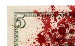 USA en dollarräkning, slut upp Arkivbild