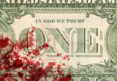 USA en dollarräkning, slut upp Fotografering för Bildbyråer