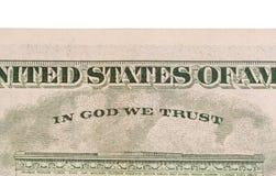 USA en dollarräkning, slut upp Arkivfoton