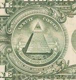 USA en dollarräkning, slut upp, stor skyddsremsa Arkivfoto