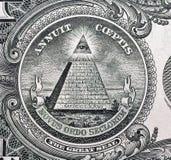 USA en makro för closeup för dollarräkning Arkivfoton