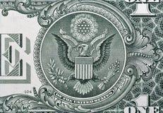 USA en makro för closeup för dollarräkning Arkivbild