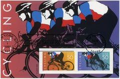 USA - 1996: engagiertes Radfahren Stockfoto