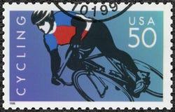USA - 1996: engagiertes Radfahren Lizenzfreie Stockbilder