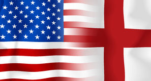 Usa-England Flag Stock Image
