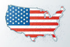 USA engrave style Stock Image