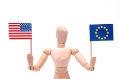 USA and EU Royalty Free Stock Image