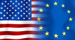Usa-Eu Flag. This is Usa-Eu Flag Royalty Free Stock Image
