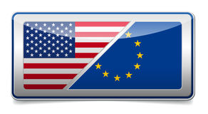 USA - EU sign Royalty Free Stock Photos