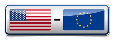 USA - EU sign Stock Image